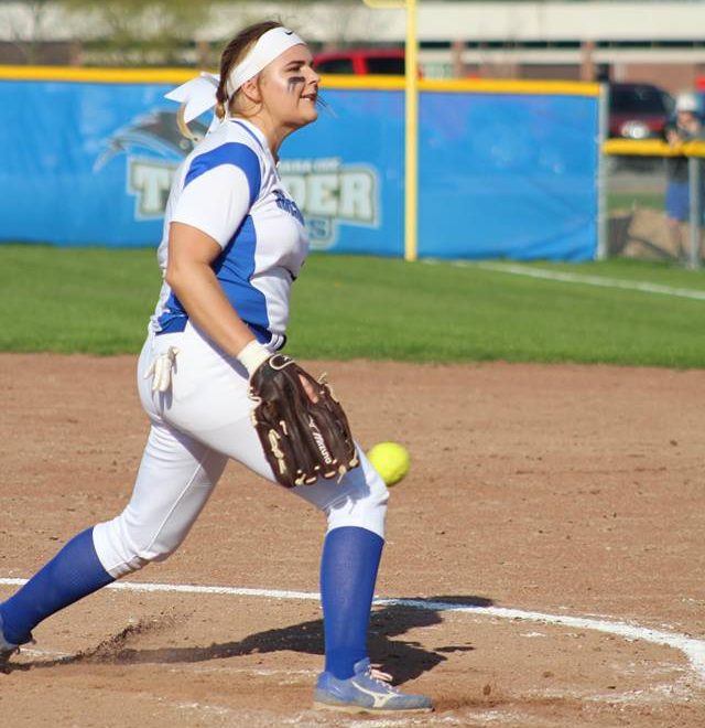 Niagara County CC softball's Vicki Waugaman is one of three local players who threw a no-hitter in the past week. (Photo courtesy of NCCC Athletics).