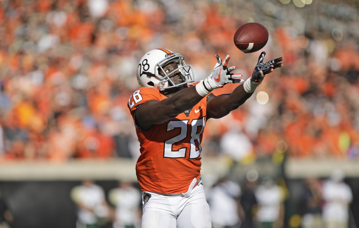 Oklahoma State's James Washington could be a fit for the Bills. (Getty Images)