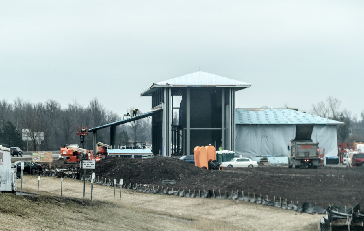 Photos of construction work in progress at the Grand Island Welcome Center. (James P. McCoy/Buffalo News)