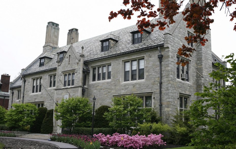 The Diocese of Buffalo's property on Oakland Place in Buffalo, which serves as the bishop's residence, pictured in May 2007. (Sharon Cantillon/News file photo)