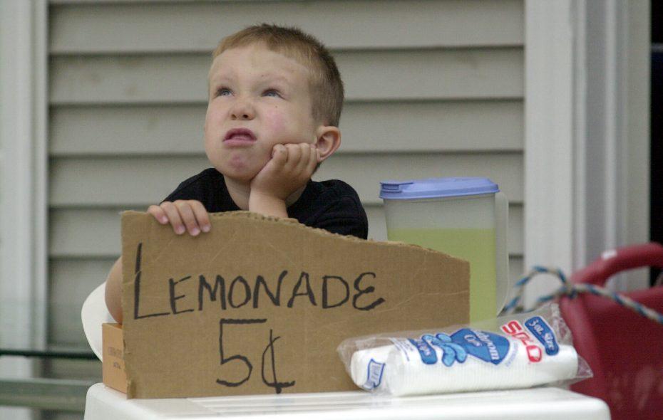 KidBiz takes the lemonade stand to the next level. When this picture was taken in 2013, Bradley Izydorczak was 6. (Robert Kirkham/Buffalo News file photo)