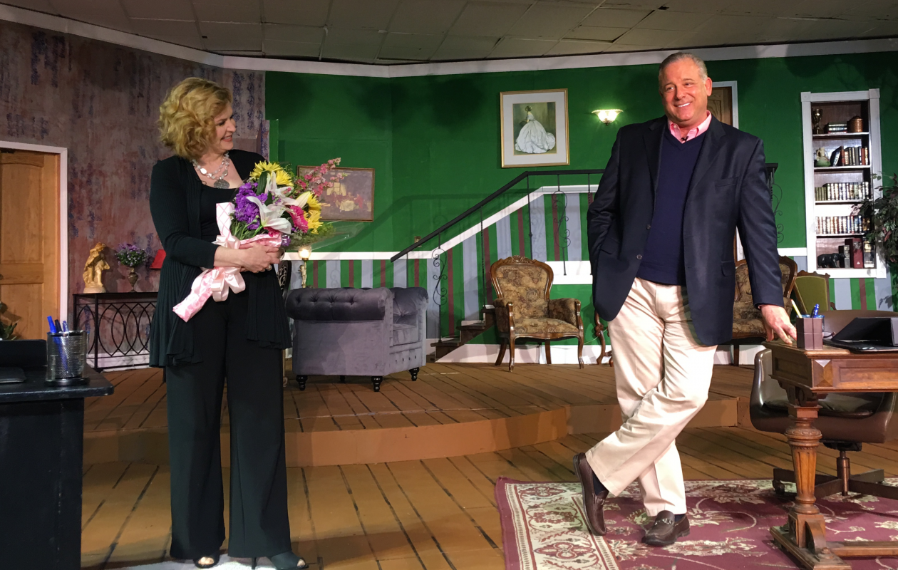 WGRZ co-anchors Maryalice Demler and Scott Levin appeared in a fundraising performance of A.R. Gurney's 'Love Letters' for the Niagara Regional Theatre Guild on Saturday in the Ellicott Creek Playhouse.