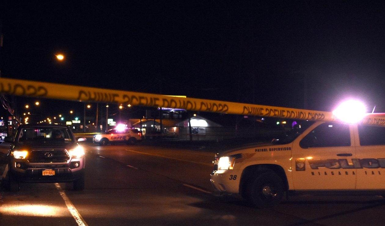 The Niagara Falls Police Crash Management Team responded Saturday night to an accident involving a pickup truck striking a pedestrian. (Larry Kensinger/Special to The News)