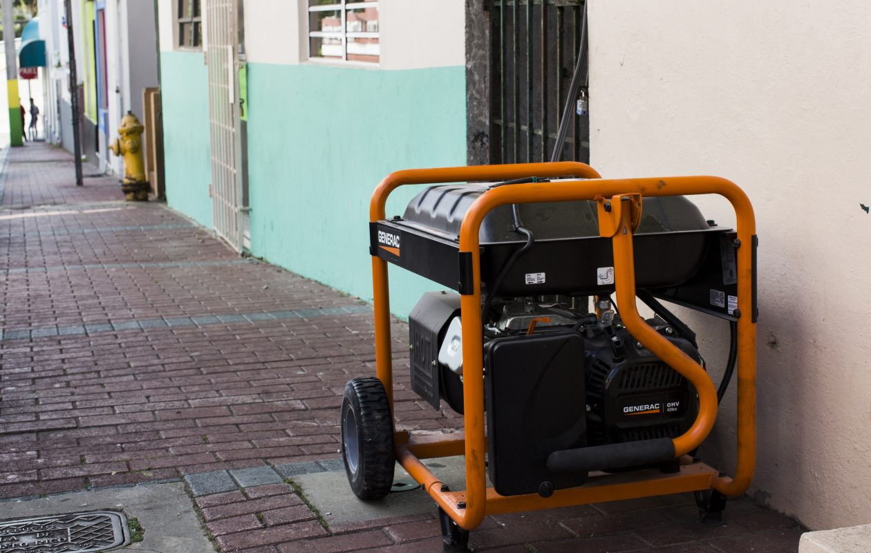 A generator runs in Comerío after a widespread power outage in early March. (Photo for The Washington Post by Erika P. Rodriguez)