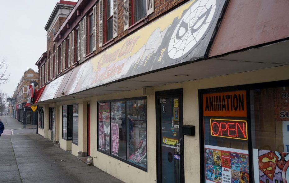 Queen City Bookstore was one of Jeff Miers' stops in University Heights. (Derek Gee/Buffalo News)