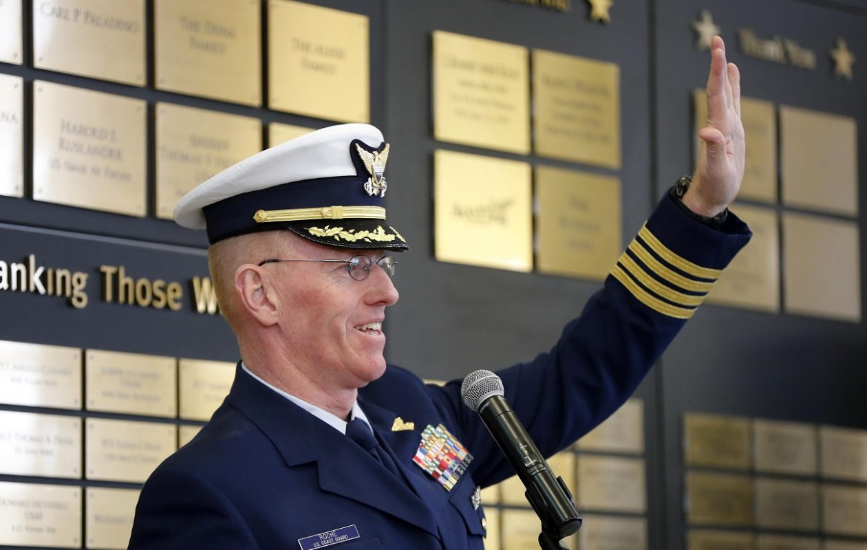 Retired Coast Guard Captain Brian Roche at the Buffalo and Erie County Naval & Military Park in Buffalo.   (Mark Mulville/News file photo)