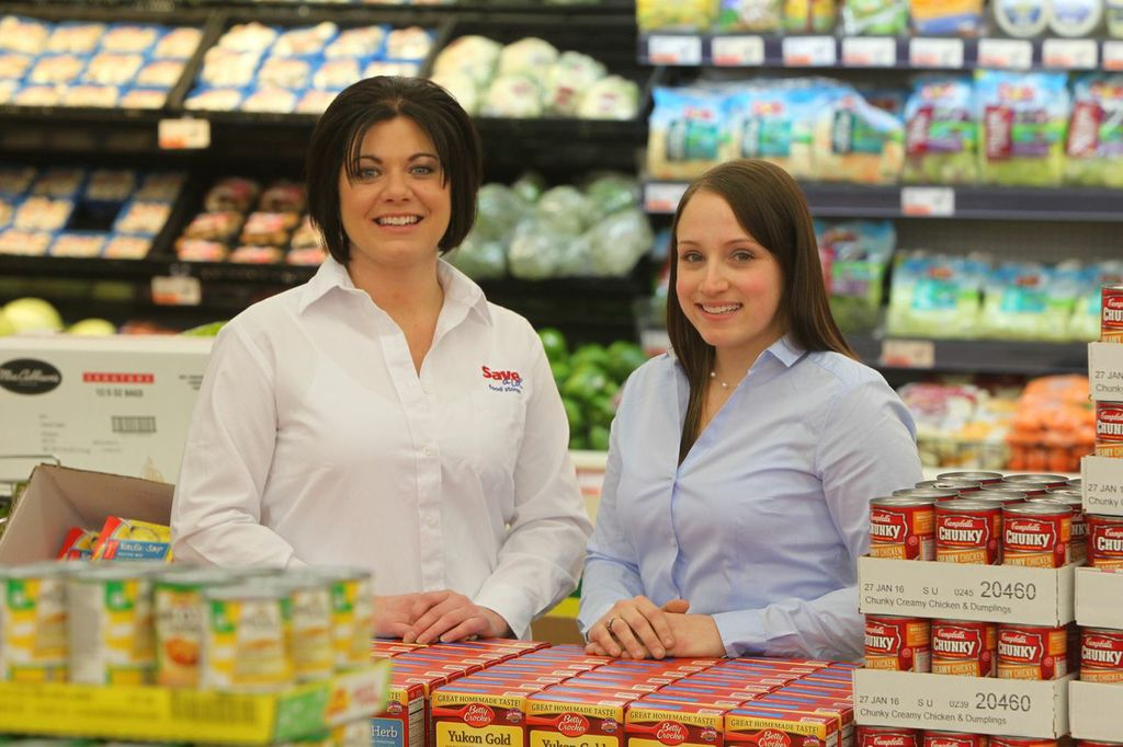 Suzanne Schmitz and Jessica Horrigan, owners of a new Save-A-Lot store opening in North Tonawanda Wednesday. (Contributed photo)