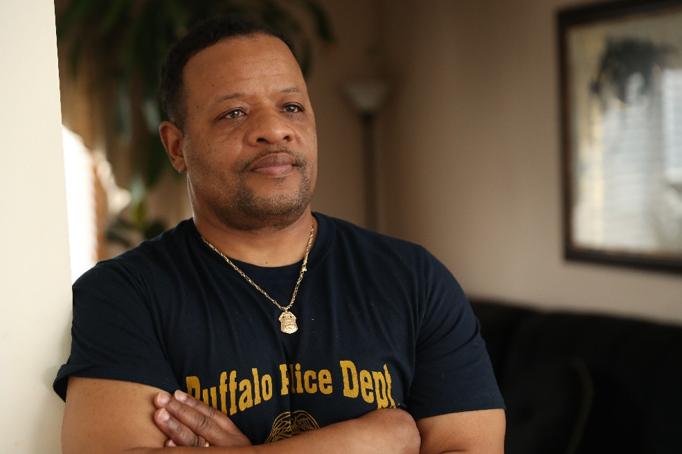 When Edwin L. Garris was sent back to Iraq for his second war-zone deployment, this time heading a military police platoon, he took with him skills picked up as a member of the Buffalo Police Department. (Sharon Cantillon/Buffalo News)