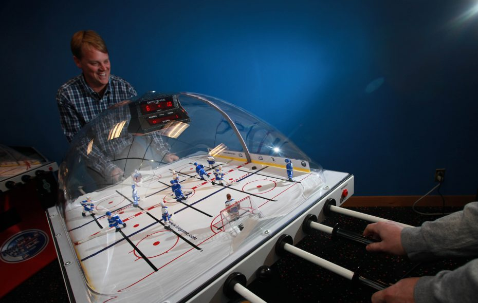 Innovative Concepts in Entertainment, or ICE, makes the Super Chexx bubble hockey tables along with other coin-operated games.  A building that would allow the company to expand onto a neighboring parcel has received $516,000 in tax breaks. (Sharon Cantillon/News file photo)