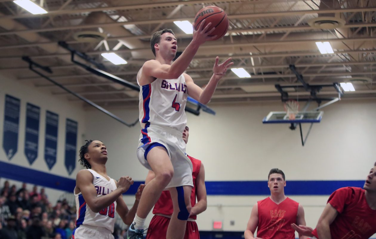 WIlliamsville South's Greg Dolan drives to the basket during a game against Williamsville East this past season. Dolan averaged 28.6 points per game for the Billies. (Harry Scull Jr./ Buffalo News)