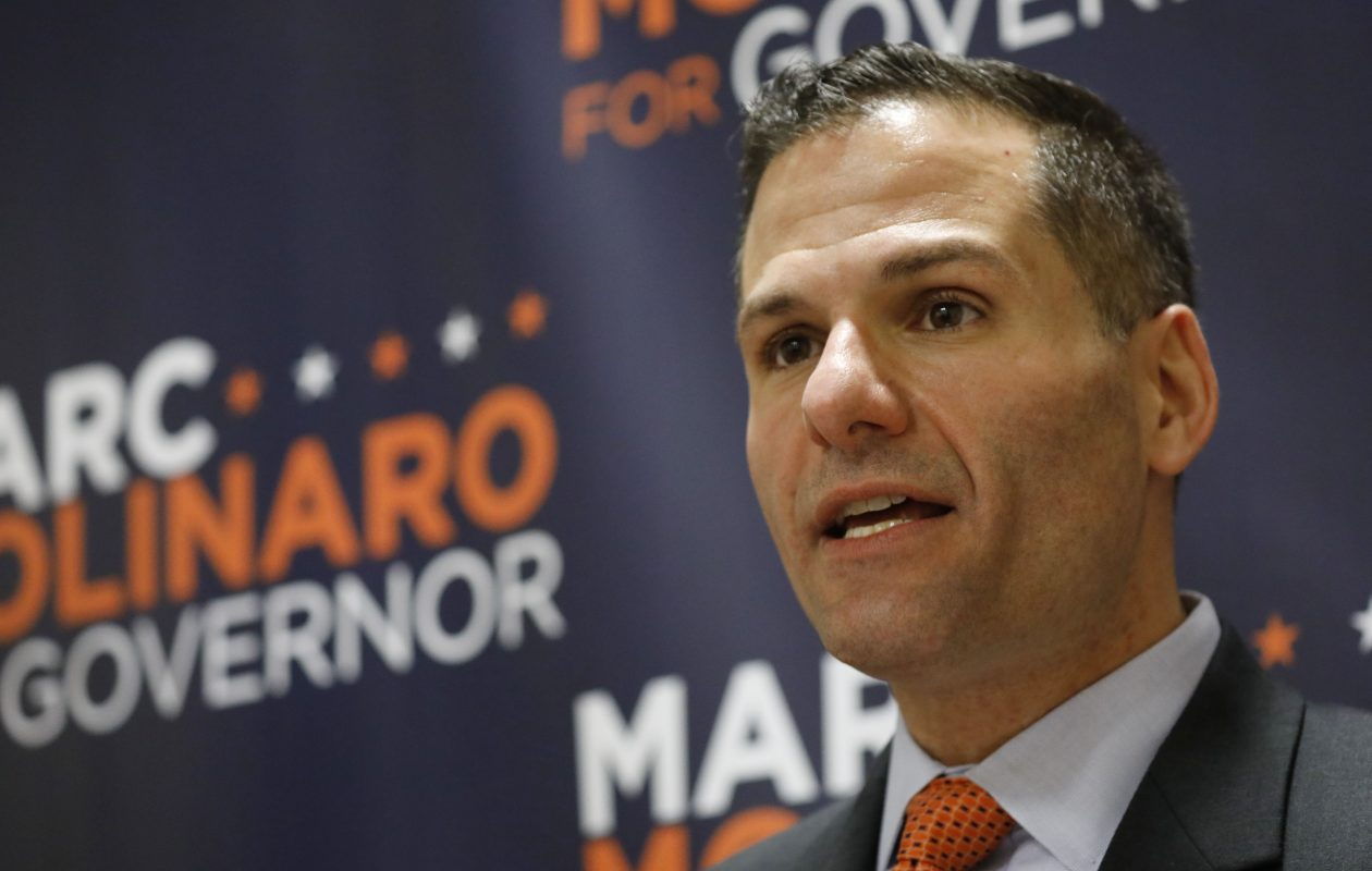 Carl Paladino supports the GOP gubernatorial candidate of Marc Molinaro, shown here in a Buffalo visit in May. (Derek Gee/News file photo)