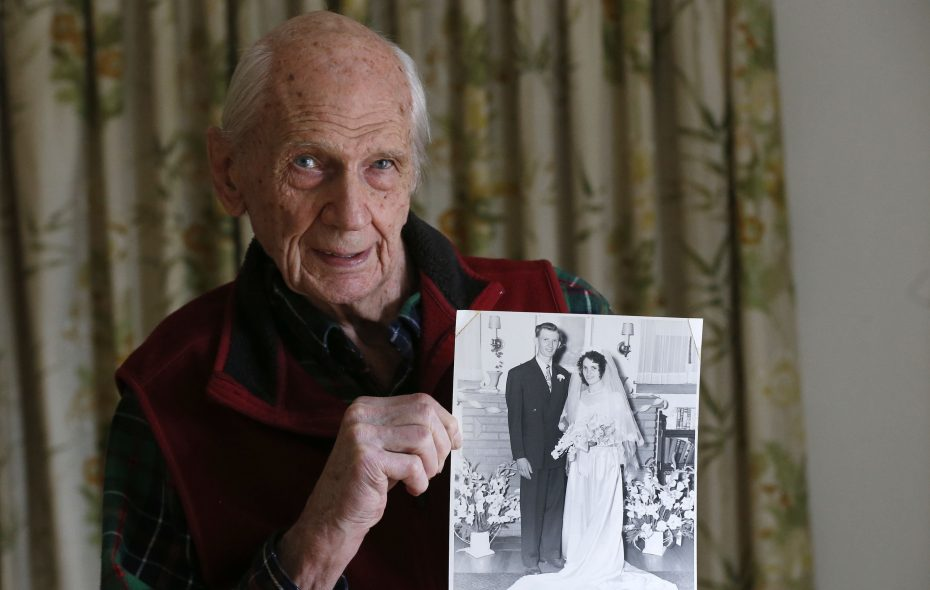 WWII Army veteran Don Weimer met his bride-to-be, Nicolina Napolitano, when he pulled into a little garage in Italy to get out of the rain and discovered her there with other women. (Robert Kirkham/Buffalo News)