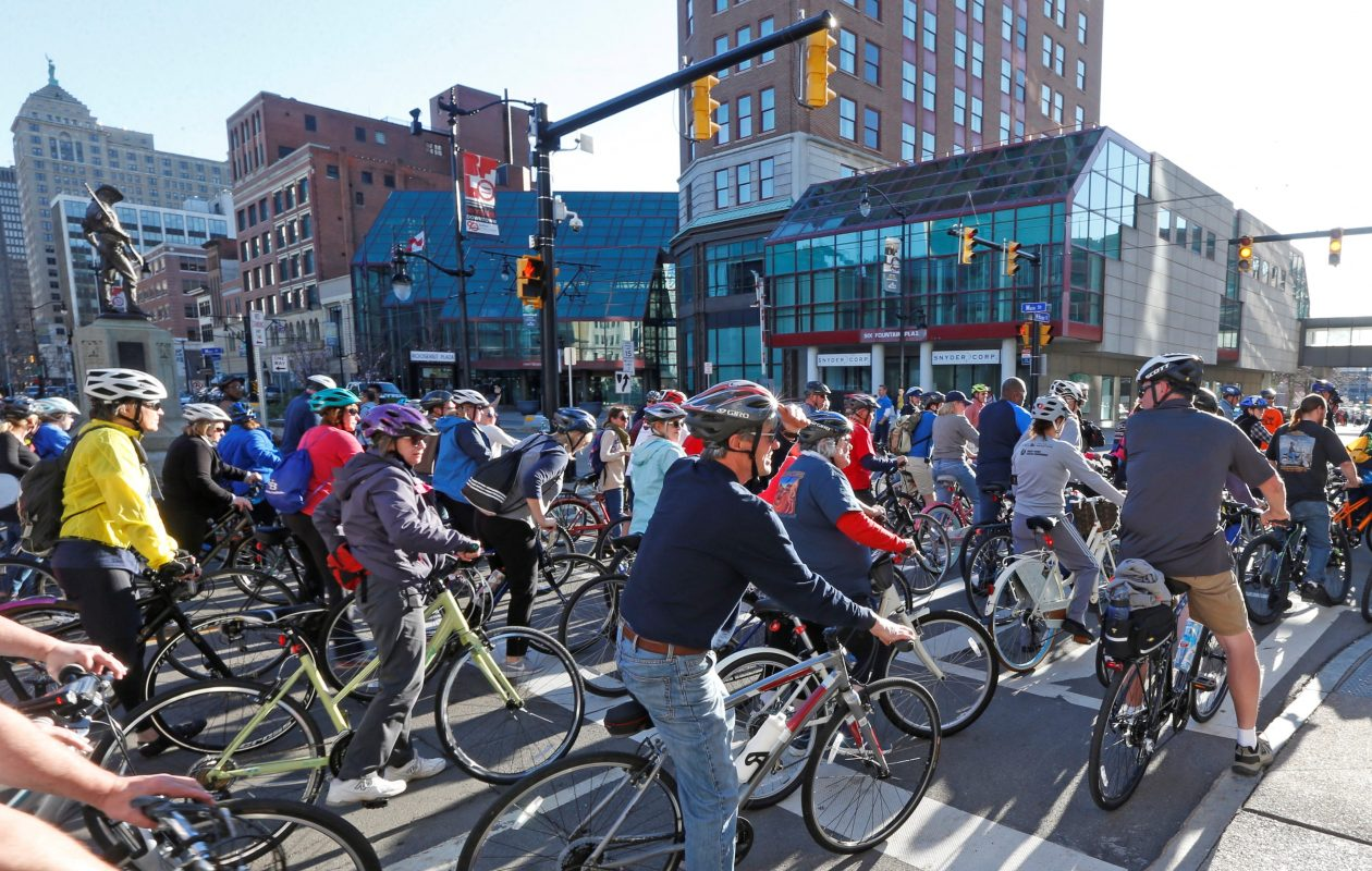 A new short film to debut Wednesday will highlight Buffalo biking prospects, including Slow Roll Buffalo. (Robert Kirkham/News file photo)