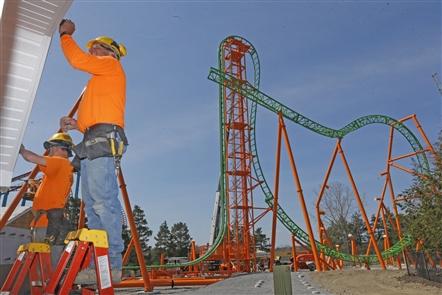A work in progress: Darien Lake's Tantrum roller coaster