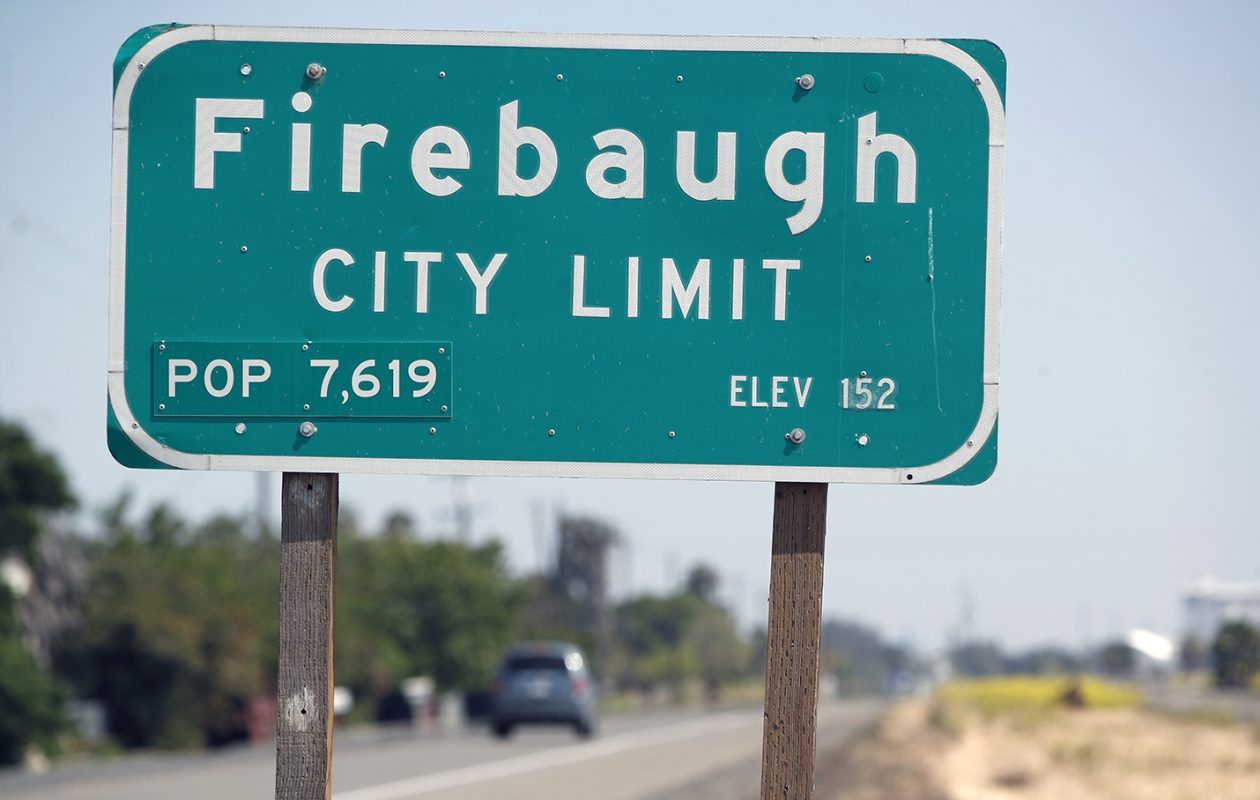 The Firebaugh city limit sign, where Bills' first-round draft pick Josh Allen grew up. (Harry Scull Jr./Buffalo News)