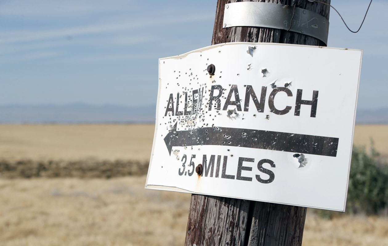 A sign points the way to Allen Ranch. (Harry Scull Jr./Buffalo News)