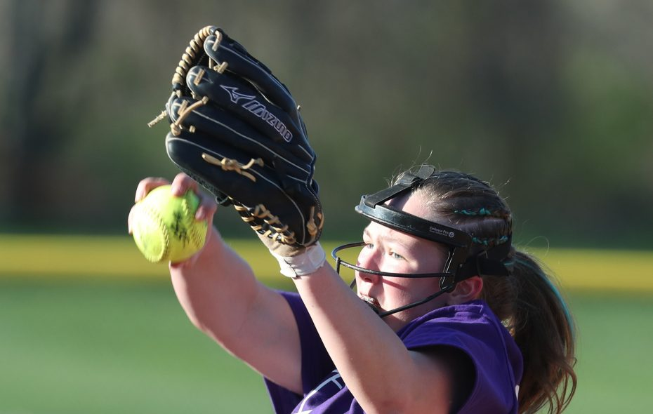 Megan Giese and Orchard Park softball received all first-place votes in this week's Coaches poll. (James P. McCoy/Buffalo News)