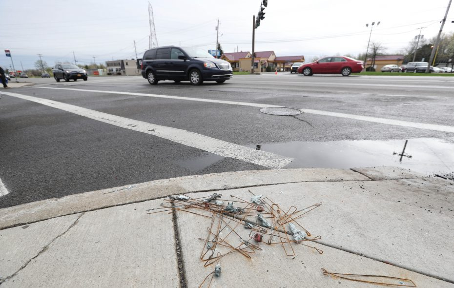 Jennifer Duffin was killed while crossing Niagara Falls Boulevard between Inn Keepers Lane and Willow Ridge Drive. Her family has sued Amherst, the Town of Tonawanda and the driver over her death. (Sharon Cantillon/Buffalo News file photo)