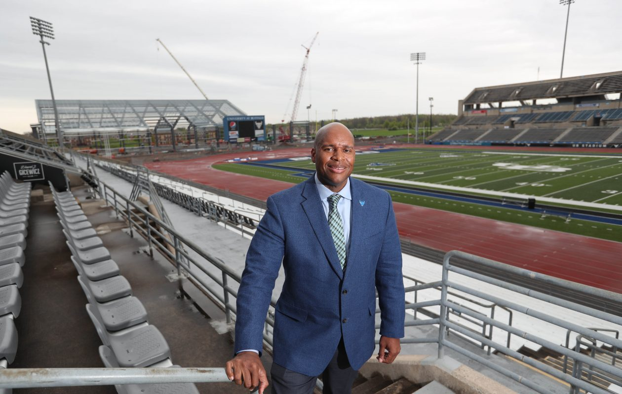 Mark Alnutt, the University at Buffalo's new athletic director, opens about his vision for UB sports. (Sharon Cantillon/Buffalo News)