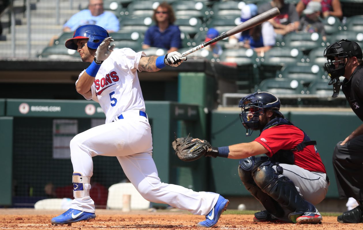 Tim Lopes drove in the winning run for the Bisons on Thursday against Columbus. (Harry Scull Jr./ Buffalo News)