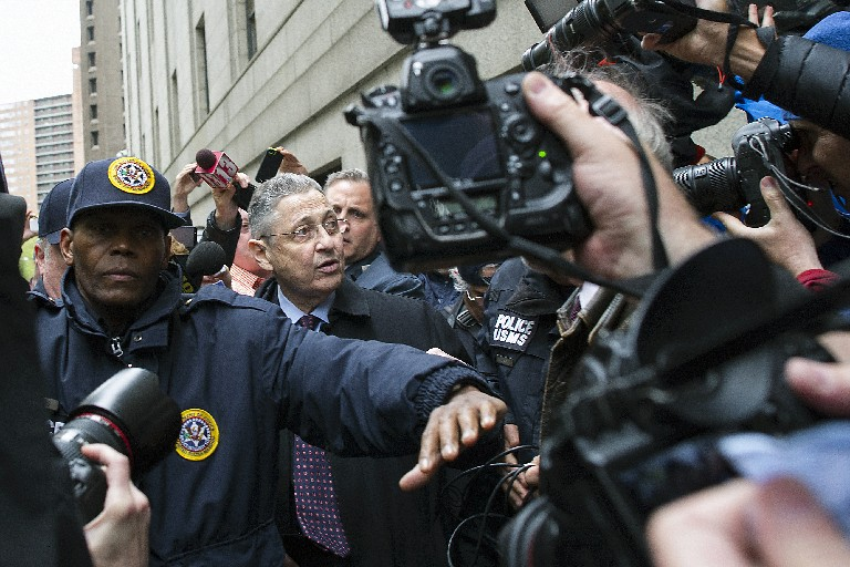 Former Assembly Speaker Sheldon Silver, shown after his sentencing on federal corruption charges in 2016, was convicted again last week in his retrial. (New York Times)