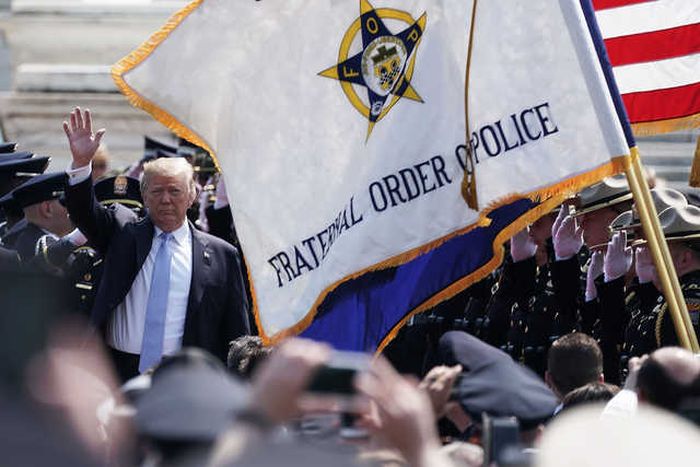 President Trump attended the National Peace Officers' Memorial Service this week. (Getty Images)