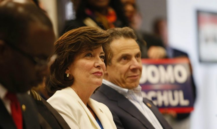 Lt. Gov. Kathy Hochul, shown with Gov. Andrew Cuomo in Amherst in 2014. (News file photo)