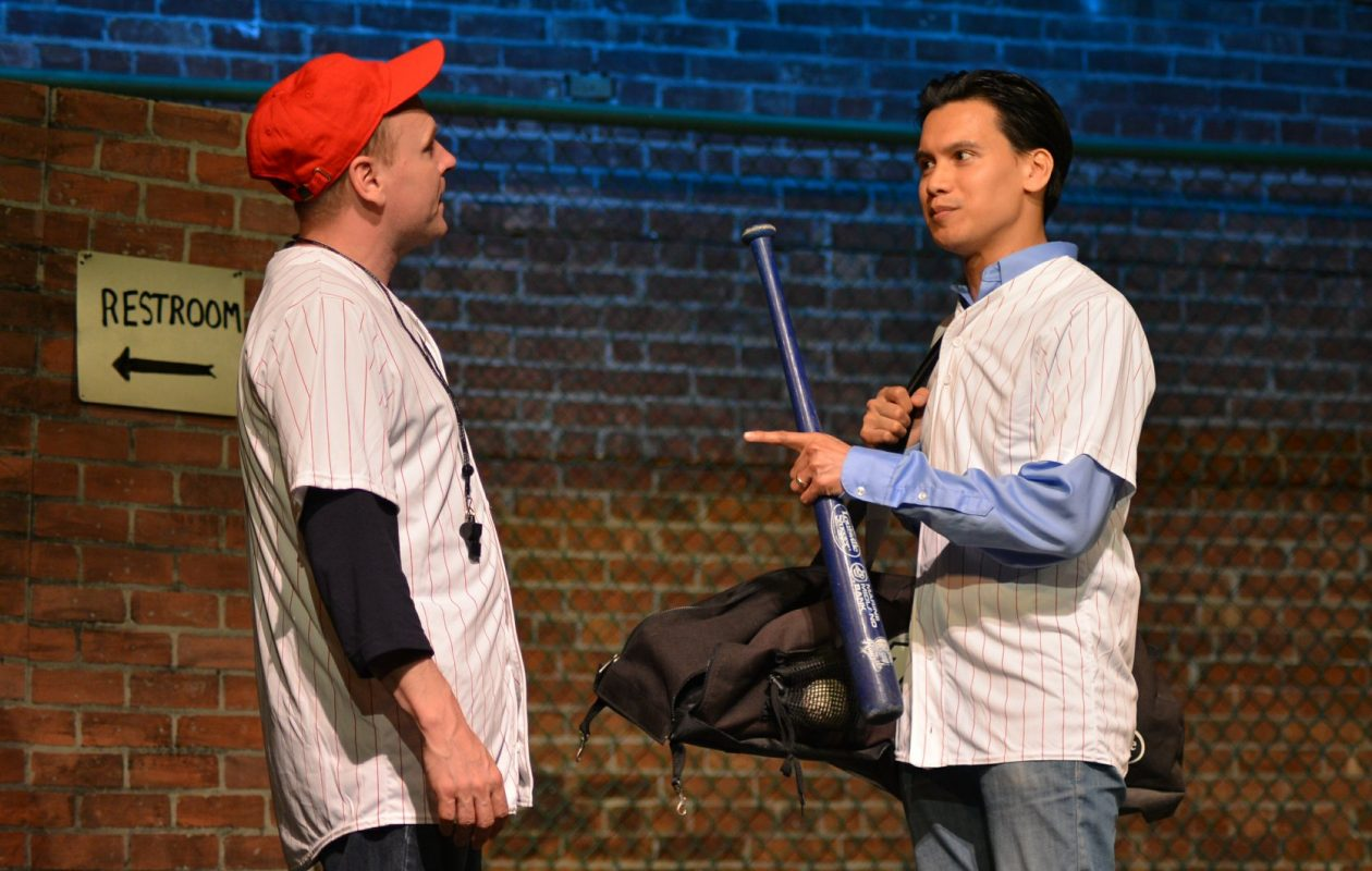 Ray Boucher, left, and Darryl Semira are featured in the Lancaster Opera House production of Richard Dresser's play 'Rounding Third.'