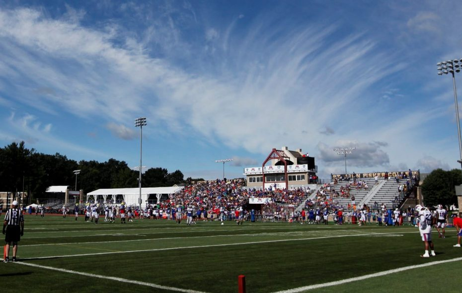 The Bills will hold training camp once again at St. John Fisher College in Pittsford. (Harry Scull Jr./News file photo)
