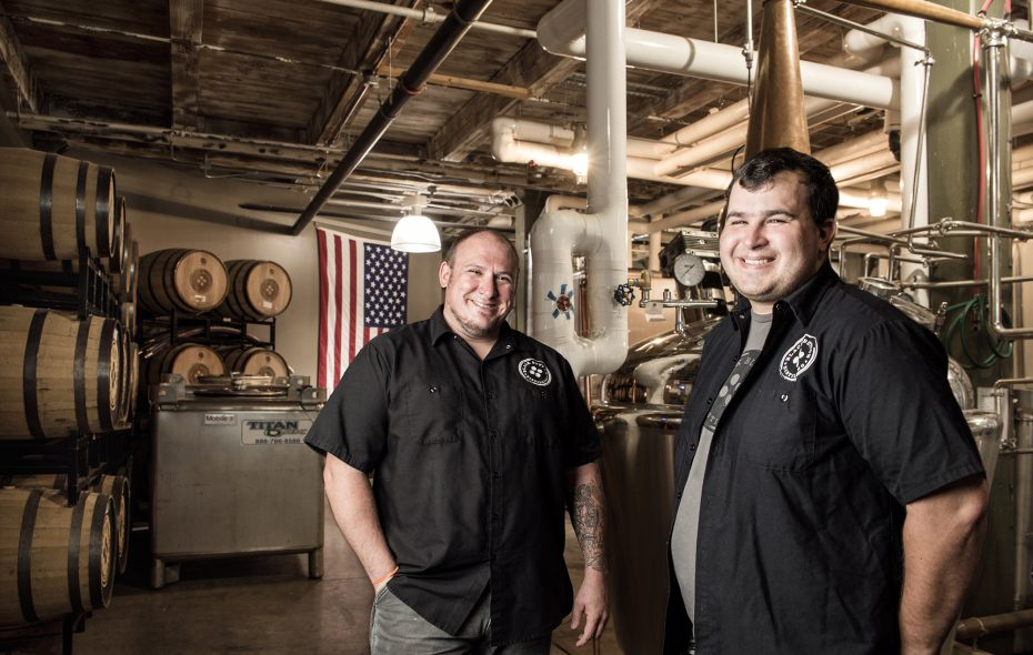 Jeff and Jason of Black Button on Swan Street. (Black Button Distilling)