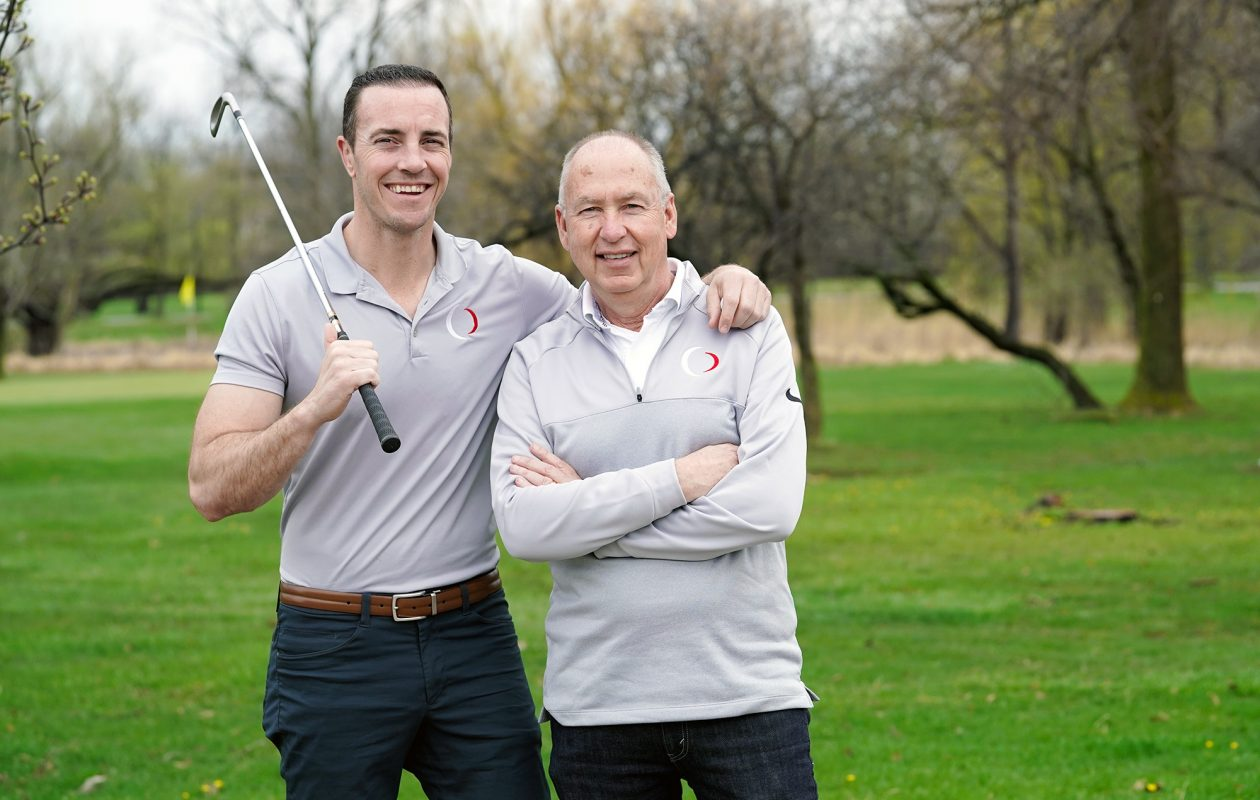 Bret and Keith Blakely are the father-and-son team behind OnCore Golf, a Buffalo-based golf company. (Dave Jarosz)