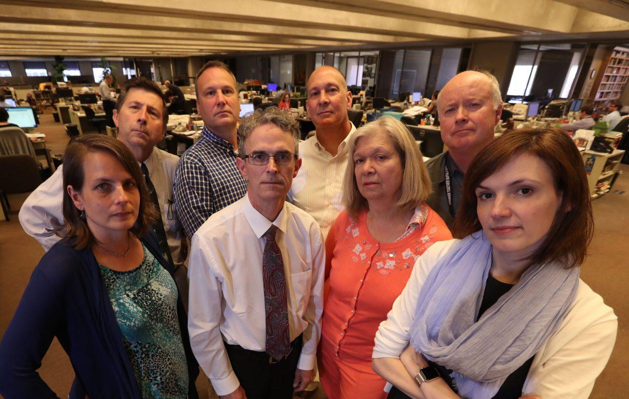 The watchdog team at The Buffalo News. (Sharon Cantillon/Buffalo News)