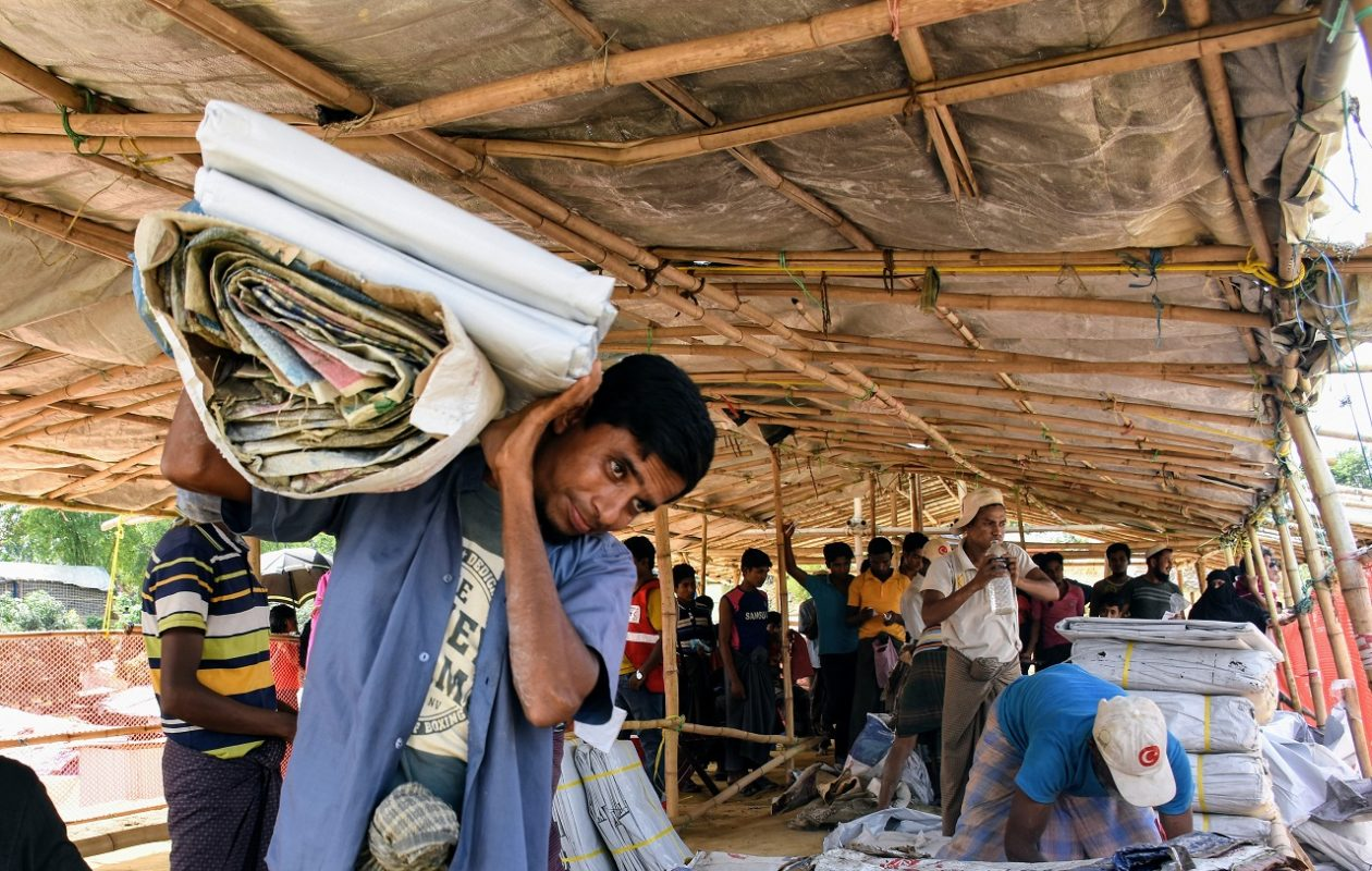 Rohingya refugees in Cox's Bazar, Bangladesh, prepare for monsoon season to hit their makeshift city of 800,000. (Photo courtesy of the  International Federation of Red Cross and Red Crescent Societies)
