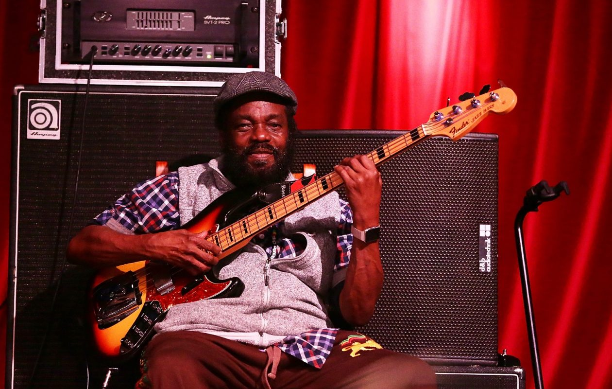 Aston 'Family Man' Barrett of The Wailers, pictured performing in 2016 in Australia, stops by Babeville on Tuesday. (Mark Metcalfe/Getty Images)