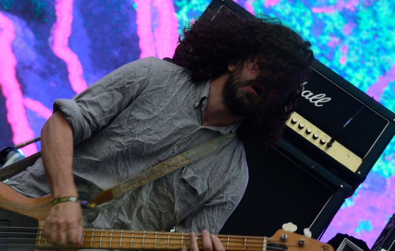Lou Barlow, playing the bass for Dinosaur Jr., will stop by Thin Man Brewery Wednesday night. (Jose Jordan/Getty Images)