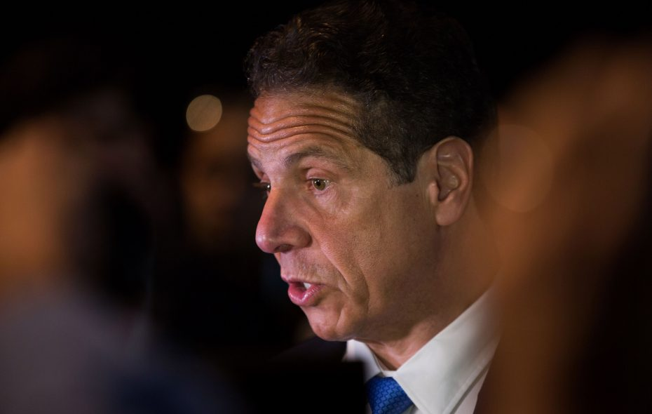 """""""The hard truth is that in the last presidential election, Donald Trump and the right wing did not win. It's thatthe Democratic Party lost,"""" Gov. Andrew Cuomo told state Democrats at their convention Thursday. (Getty Images)"""