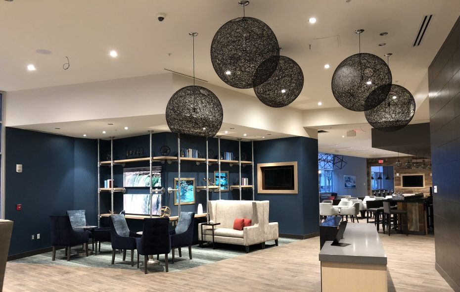 The lobby and lounge in the new Hyatt Place Hotel in Niagara Falls. (Contributed photo)