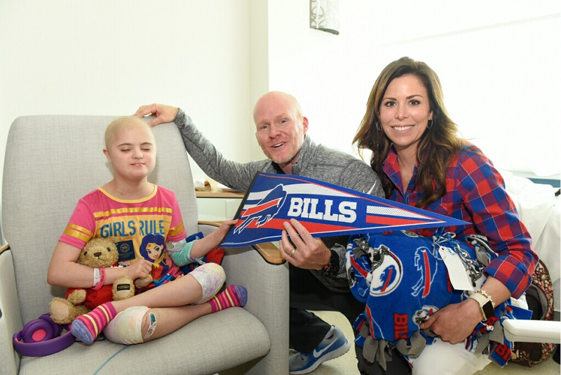 Bills coach Sean McDermott and his wife, Julie, recently paid a visit to John R. Oishei Children's Hospital. (Photo courtesy of the Buffalo Bills)