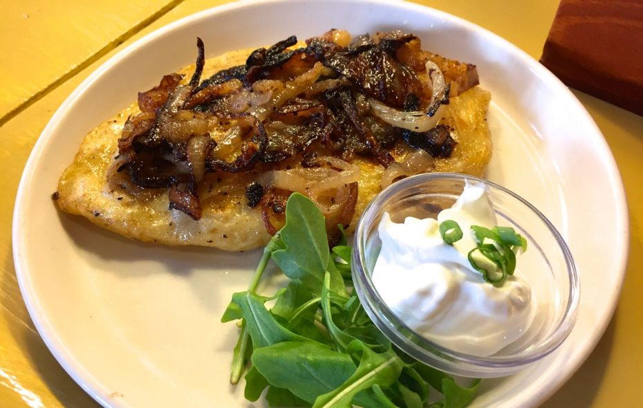 """""""Samarah's pierogi"""" at The Tabernacle, the reincarnation of Prish Moran's Irish public house now connected to Sweetness 7 Cafe. (Lauren Newkirk Maynard/Special to the News)"""