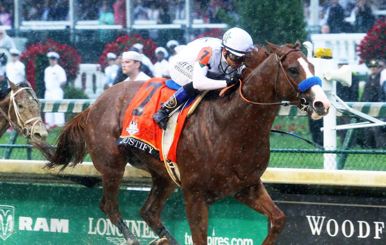 Justify wins Kentucky Derby 144 at Churchill Downs. (Churchill Downs/Coady Photography)