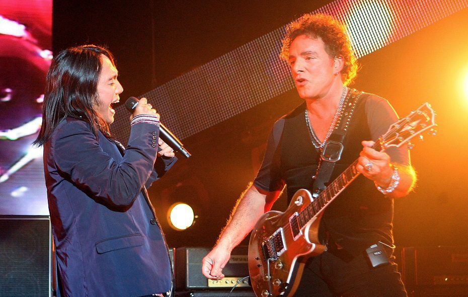 Arnel Pineda and Neal Schon of Journey. (Getty Images)