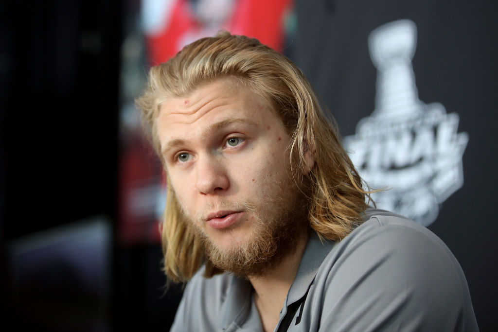 William Karlsson answers questions Sunday on Stanley Cup Media Day. (Getty  Images) b0f806885