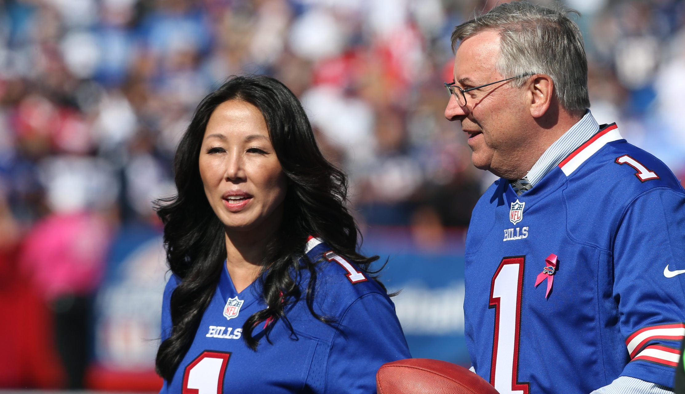 'There's no exact right answer to this,' Kim Pegula said of an NFL policy on anthem protests. (News file photo)
