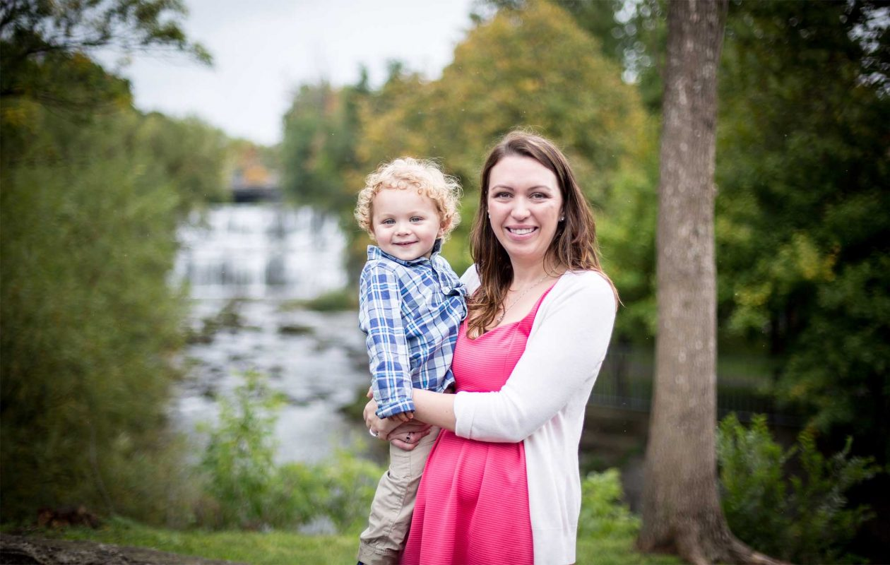 Kimberly with her 3-year-old son. (Seventh Arrow Studio)