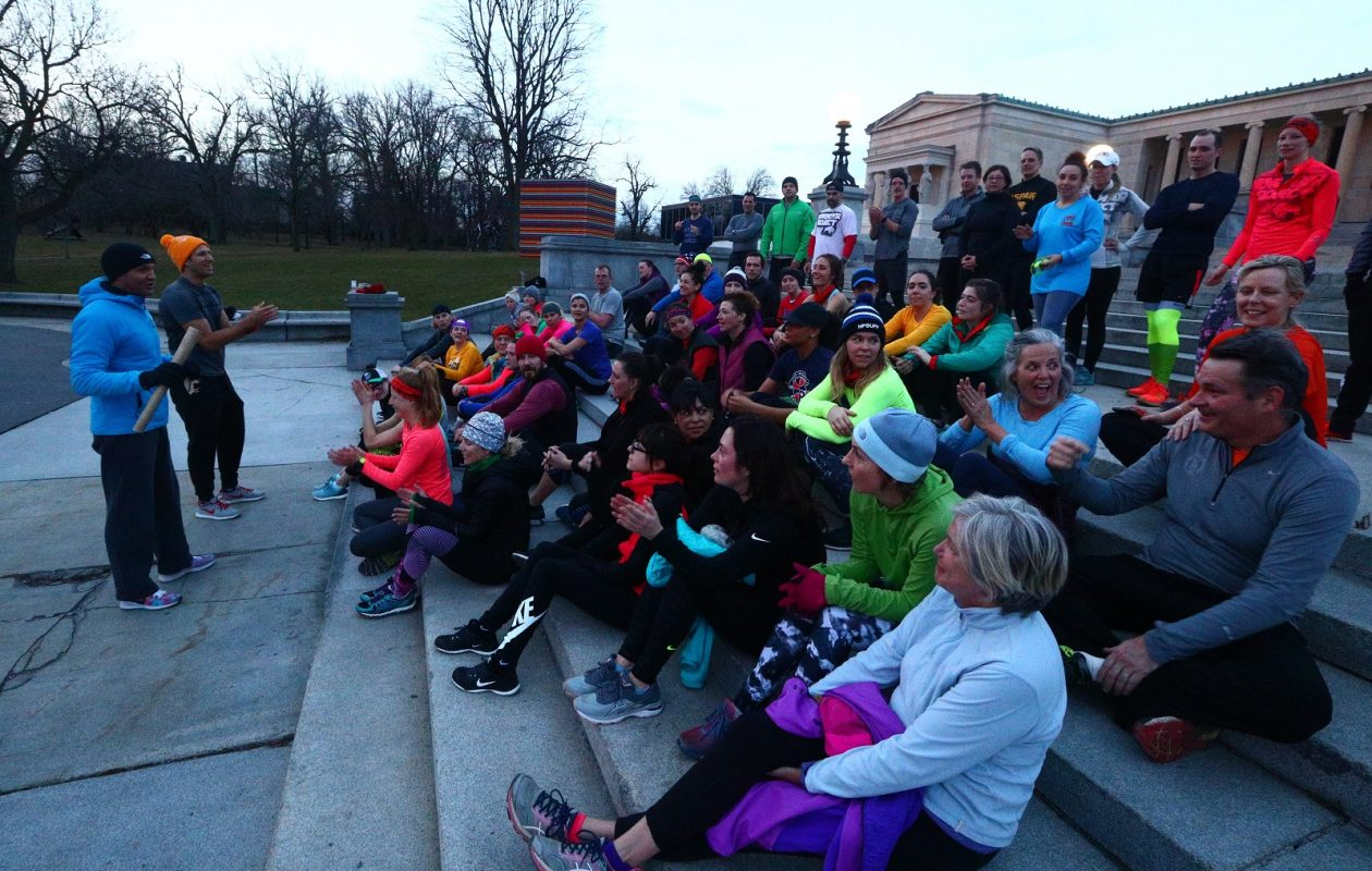 The November Project is part of Larkin Moves, a daylong event on May 30 that concludes with the Gay 5K and an after party at the Filling Station. (John Hickey/News file photo)