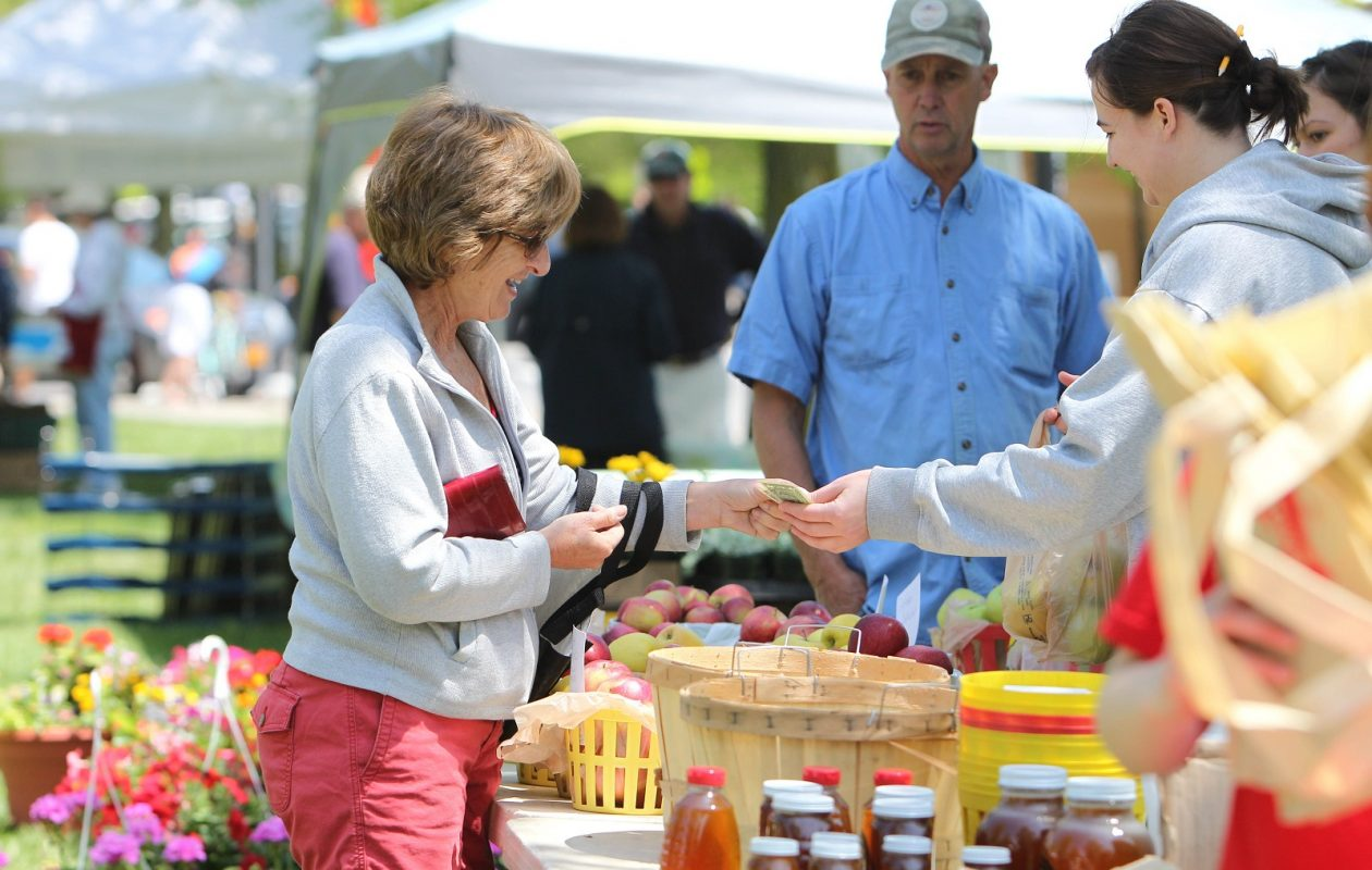 Lynn Mather of Buffalo attended opening day of the Elmwood Village Farmers Market in 2012. (Sharon Cantillon / Buffalo News)