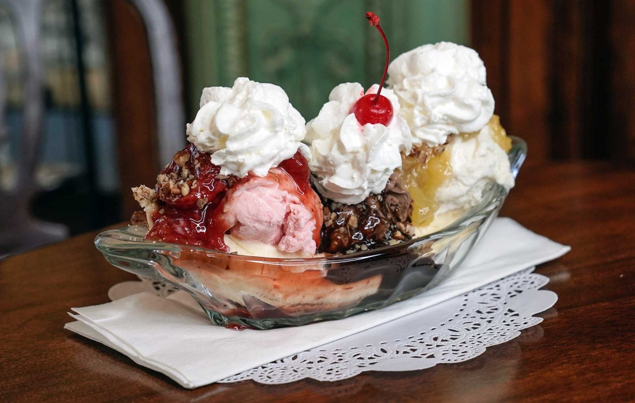 A classic banana split from Parkside Candy Co. in Buffalo. (Dave Jarosz)