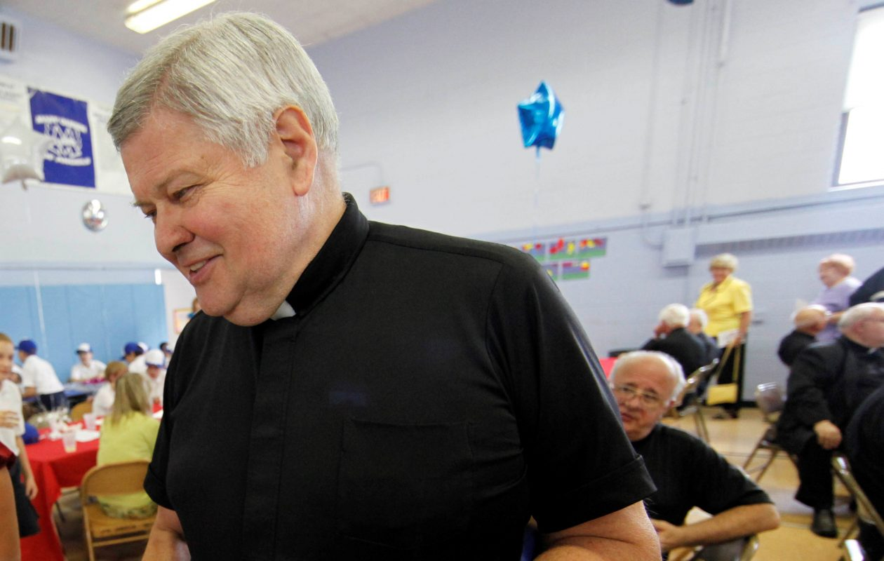 Rev. Fabian Maryanski, pictured in 2010 in the Mary Queen of Angels Regional Catholic School cafeteria. The Diocese of Buffalo assigned Maryanski to parishes for more than a decade after he was accused of having sexual contact with a teenage girl. (News file photo)