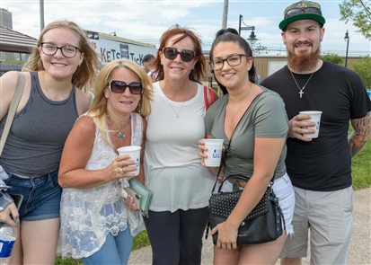 Smiles at opening of River Fest Park Summer Concert Series