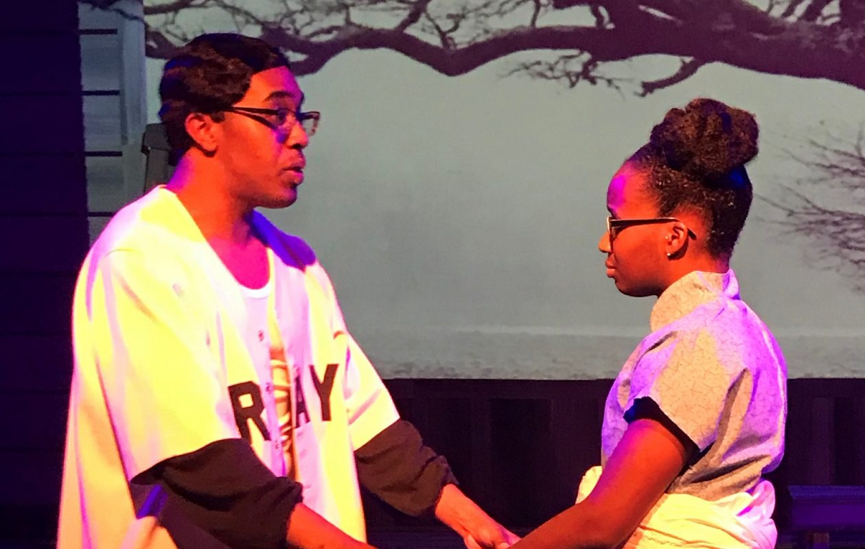 Danielle Green's powerful voice belies her small stature in 'Blackberry Daze' at Paul Robeson Theatre. Augustus Donaldson Jr. also stars.  (Credit: Keepsake Entertainment Group)